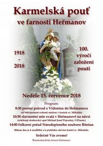 Karmelská pouť ve farnosti Heřmanov
